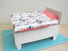 Lit de poup e en bois de palette ou lit de poup e ou d cor - Lit bebe palette ...