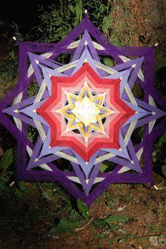 Items similar to Heart Song 36 inch yarn mandala god's eye ojo de dios on Etsy Weaving For Kids, Heart Songs, Gods Eye, All Things New, Diy Chandelier, Magic Circle, Mandala Art, Indian Art, Textile Art