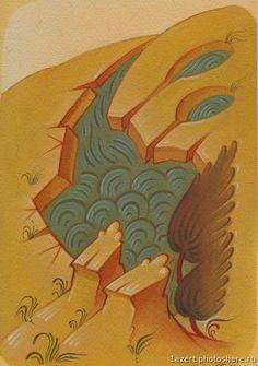 """""""Слово - изографам"""" • Просмотр темы - Вода, горки. Orthodox Icons, Byzantine, Rooster, Landscape, Animals, Painting, Detail, Art, Mountain"""