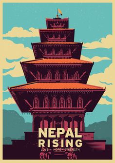 Nepal Rising was a poster made to support the relief efforts, rebuild, share love and hope from all of us here in the subcontinent.