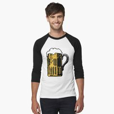 Athletic Looks, My T Shirt, Shirt Designs, Beer, Cold, Baseball, Long Sleeve, Sleeves, Mens Tops