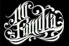 American Mexicans, Puerto Guatemala Cubans, Colombians, and Dominicans Viva la Raza y viva mi sangre Latina! Chicano Lettering, Tattoo Lettering Fonts, Hand Lettering, Typography, Mexican American, La Familia Tattoo, Estilo Cholo, Arte Lowrider, Mexican Artwork