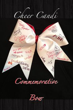 Commemorative 3 Cheer Bow by CheerCandi on Etsy, $12.00