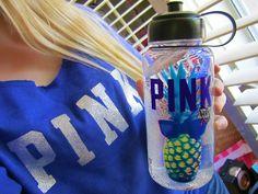 #pink ♥ pineapple sports bottle.. I so want it!
