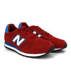new balance 373 azul com vermelho