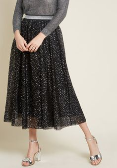 With this black mesh midi skirt enchanting your ensemble, magical lunar glows and moonlight serenades are only added bonuses! Part of our ModCloth namesake. Zooey Deschanel, Halloween Dress, Halloween Outfits, Halloween Party, Christmas Outfits, Halloween Crafts, Christmas Diy, Black Midi Skirt, Lace Skirt