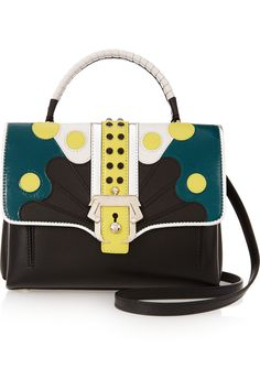 Shop on-sale Paula Cademartori Petite Faye embellished leather shoulder bag. Browse other discount designer Totes & more on The Most Fashionable Fashion Outlet, THE OUTNET.COM