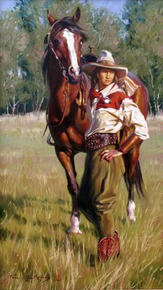 Terri Kelly Moyers  Best of Pals oil on canvas, 36 x 20 inches