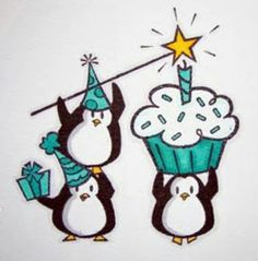 A very happy (un)birthday to you. Happy Birthday Penguin, Happy Birthday Animals, Happy Birthday Video, Penguin Party, Penguin Love, Happy Birthday Messages, Cute Penguins, Animal Birthday, Birthday Greetings