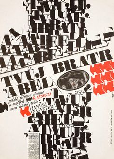 Abel, Your Brother 1970 Czech A3 Poster