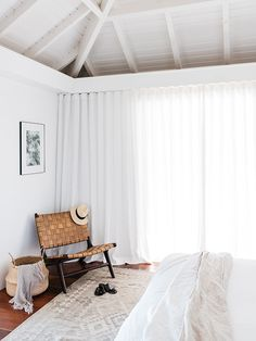 beachy white bedroom at villa palmier / sfgirlbybay
