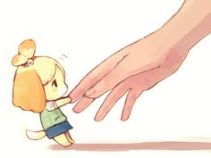 Animal Crossing. Isabelle is cute I want to a drawing of Martin freeman this size.