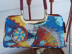 Hand Painted Purse By  Rez Hoofz   One Of A Kind ready by REZHOOFZ