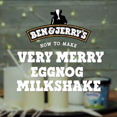 Very Merry Eggnog Milkshake