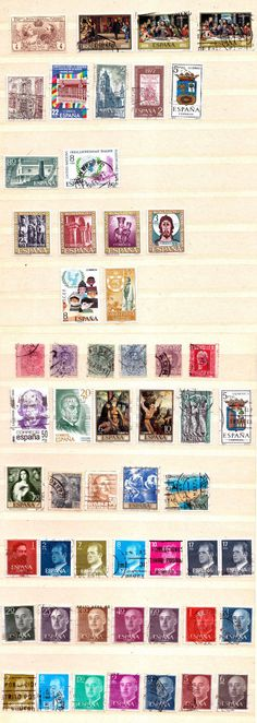 Briefmarken - Lot - S P A N I E Nsparen25.com , sparen25.de , sparen25.info