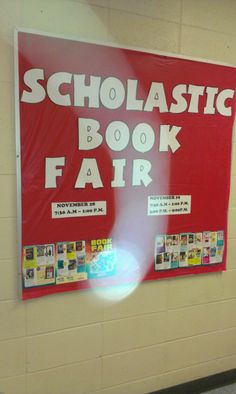 Promoting the Scholastic Book Fair