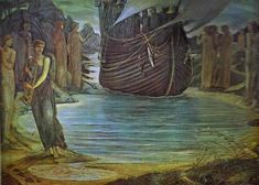 The Sirens - Burne-Jones Edward Date: 1875 Style: Romanticism Genre: mythological painting Location: Private Collection