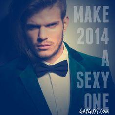 #HappyNewYear!   Make #2014 a sexy one!  #gay #LGBT #men #guys #hot #life