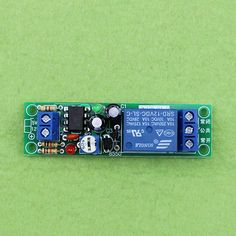 12V delay on relay module 0-60 seconds delay closed 10A load capacity Active Components Integrated Circuits(D3A5)