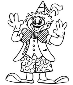 Clown Coloring Pages | free printable coloring page Circus Clowns ... | 277x236