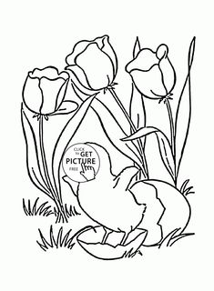 Easter Holiday Coloring Page For Kids Pages Printables Free