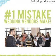 Number 1 Mistake Wedding Vendors Make - Get a free marketing resource Free Market, Bridal Show, Younique, Wedding Vendors, Mistakes, Butter, Marketing, Business, How To Make