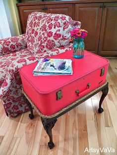 Recycled Suitcases DIY Furniture and Storage Ideas
