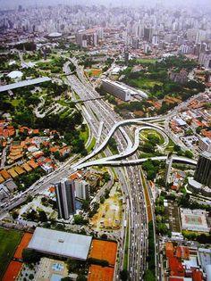Highways in San Paulo, Brazil