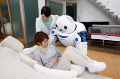 Robear: Japanese Elder Care Robot Has Teddy Bear Head Robotics And Artificial Intelligence, Medical Robots, Real Robots, Humanoid Robot, I Robot, Bear Head, Hospital Design, Nursing Care, Elderly Care