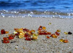 Baltic Amber example, you can collect from the beach but can not be extracted illegally.