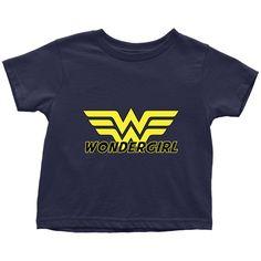 """Family Matching Design Toddler T - Shirt Sayings """"Wondergirl"""" (4 sizes)"""