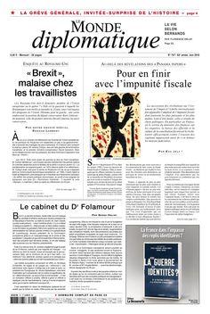 Le Monde diplomatique N° 747 - Juin 2016