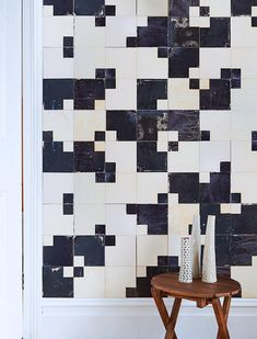 Tiles by Smink Things. Ceramic wall tiles with screen-printed glazes.