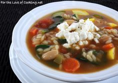 Vegetable, White Bean, and Orzo Soup add meatballs or rotisserie chicken to make it heartier.