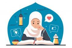 Islamic character reading quran, koran P. Cute Cartoon Drawings, Cartoon Sketches, Creative Poster Design, Creative Posters, Reading Al Quran, Reading Cartoon, Islamic Cartoon, Pop Stickers, Anime Muslim