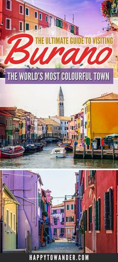 THE best guide for visiting Burano, Italy. This rainbow town is truly one of the prettiest, cutest and colourful places in the world. A must-see if you're visiting Italy! This guide tells you everything you need to know about Burano, like how to get there Positano, Amalfi, Verona, Cinque Terre, Bologna, Palermo, Pisa, Cool Places To Visit, Places To Travel
