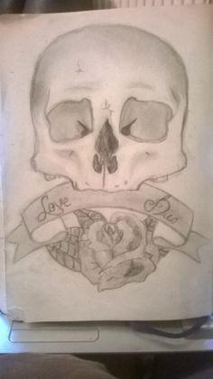 Love Dies Original sketch by MeganKateArt on Etsy, £4.00