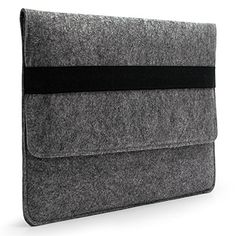 """Sinoguo Basic Gray Felt Handmade Case Bag with Black Elastic Band and 2 Pocket Inside for 13"""" Macbook Air / Pro /Pro With Retina Display and 13~13.3 inches Laptop / Notebook / Ultrabook /Netbook Sinoguo http://www.amazon.co.uk/dp/B00OMUMRH8/ref=cm_sw_r_pi_dp_tu1exb0Q70H5E"""