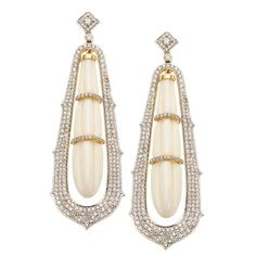 Carved White Coral and Diamond Drop Earrings | From a unique collection of vintage drop earrings at https://www.1stdibs.com/jewelry/earrings/drop-earrings/