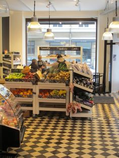 Smallgrocerystoredesign Food store space Pinterest Store