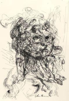 Glenn Brown - Gagosian Gallery Glenn Brown, Automatic Drawing, Gagosian Gallery, Brown Art, A Level Art, Museum Exhibition, Mixed Media Art, Contemporary Art, Art Photography