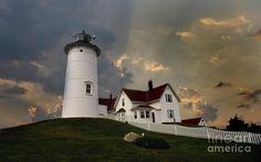 Nobska Point Lighthouse in MA on Cape Cod