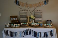 Rustic baby boy baby shower styled by Michelle Javelet
