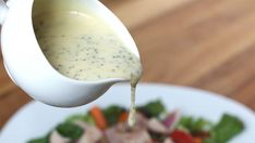 Tart, Tasty Mustard Vinaigrette: A Salad Dressing Recipe with Bold Flavor to Spare Poppyseed Salad Dressing, Salad Dressing Recipes, Salad Recipes, Honey Mustard Salad Dressing, Poppy Seed Dressing, Ginger Salad Dressings, Barefeet In The Kitchen, Soup And Salad, Mayonnaise