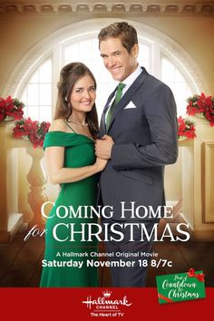 Coming Home for Christmas - Danica McKellar and Neal Bledsoe, premieres November 18th on Hallmark Channel. #CountdowntoChristmas #ComingHomeforChristmas #HallmarkChannel