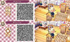 Animal Crossing New Leaf QR codes cat pattern