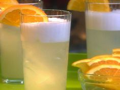 Classic Pisco Sour recipe from Ingrid Hoffmann via Food Network Pisco Sour, Chilean Recipes, Chilean Food, Sour Foods, Citrus Recipes, Orange Slices, Simple Syrup, Lime Juice, Milkshake