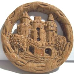 Vintage carved button