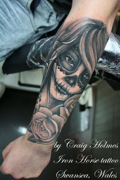 Day of the dead girl tattoo by Craig Holmes by CraigHolmesTattoo on DeviantArt
