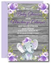 Little Elephant Baby Shower Invitation. Elephant Baby Shower Ideas Little Peanut Baby Shower . Pink And Gold Glitter Baby Shower Invitation Aditional . Teal Baby Showers, Lavender Baby Showers, Baby Shower Purple, Purple Baby, Floral Baby Shower, Purple Butterfly, Purple Lilac, Baby Shower Giraffe, Baby Shower Niño